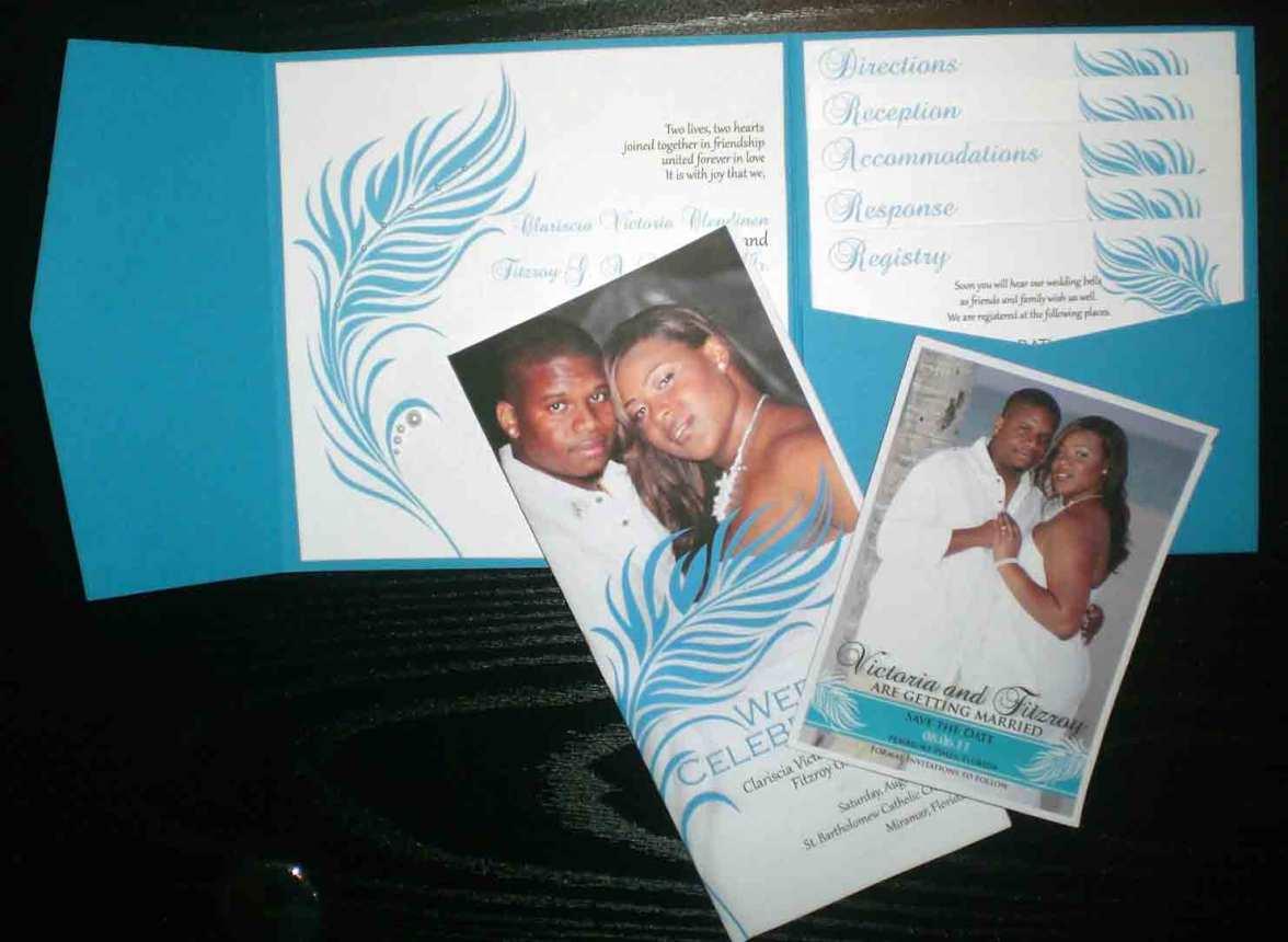 Feathers & Pearls Wedding Invitation Suite